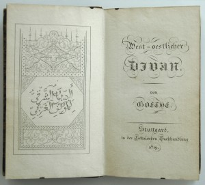 1st Edition of Goethe's West-Östlicher Diwan