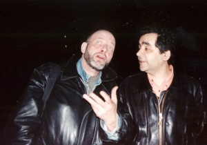 Pierre Joris & Habib Tengour at the Institut du monde Arabe, Paris 2003.