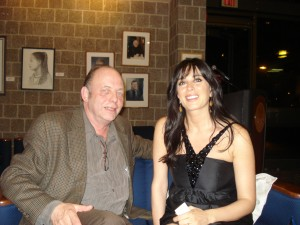 With Lebansese film-maker & actress Nadine Labaki, after the showing of her Cannes Award-winning film CARAMEL