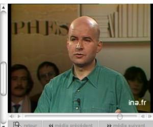 "Pierre Guyotat on Bernard Pivot's ""Apostrophes"" on February 10, 1984."