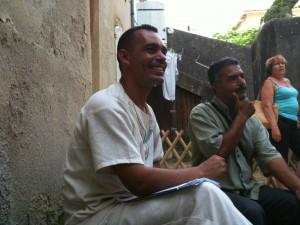 Algerian poet Ali Meghazi and Tunisian poet Youssef Khadim Allah