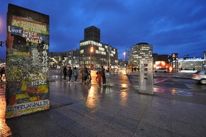 Short section of Berlin Wall at Potsdamer Platz, March 2009