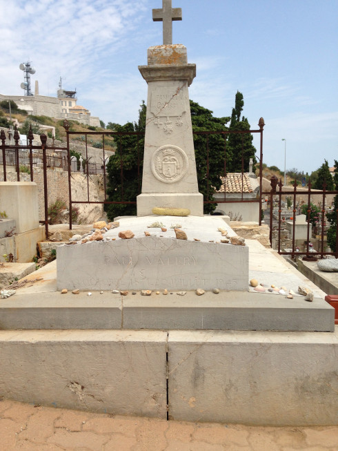 Paul Valeery's grave at the Cimetière Marin in Sète