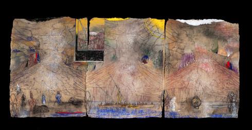 _SYL4478 The Falls (E.W), Pastel sur papier 89x210 cm