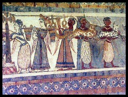 Minoisches Fresko Kreta von Agon S. Buchholz (asb) (Minolta Dimage 7 Hi). Lizenziert unter CC BY-SA 3.0 über Wikimedia Commons.