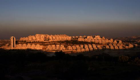 The Jewish settlement of Har Homa at sunset in east Jerusalem on June 3, 2009. (AHMAD GHARABLI/AFP/Getty Images) #