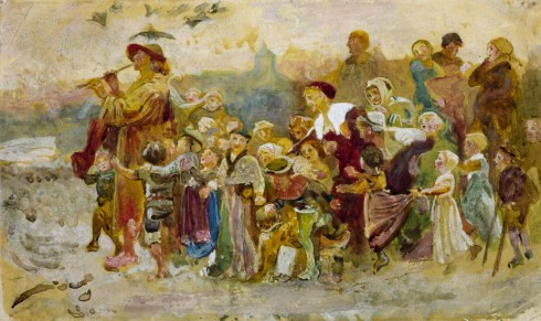 Study for 'The Pied Piper of Hamelin': The Children c.1871 George John Pinwell 1842-1875 Presented by Alfred A. de Pass 1910 http://www.tate.org.uk/art/work/N02689